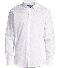 john varvatos men's light floral shirt - sky - size m