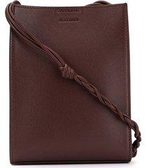 jil sander small tangle shoulder bag - brown