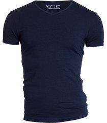 bodyfit t-shirt v-neck navy