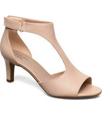 alice flame sandal med klack rosa clarks