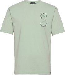 organic cotton jersey artwork tee t-shirts short-sleeved grå scotch & soda
