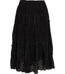 angela skirt knälång kjol svart by malina