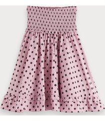 scotch & soda polka dot high low skirt