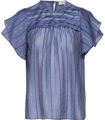 ellington blouses short-sleeved blauw munthe