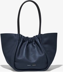 proenza schouler ruched xl tote dark navy/blue one size