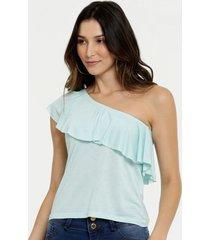 blusa feminina ombro só babado