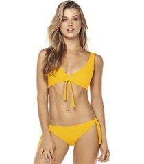 bikini triangulo amarillo lisantino