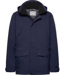luosto men's warm parka jacket parka jas blauw halti