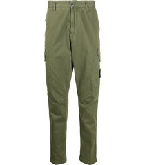 stone island dropped crotch trousers - green