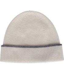eleventy white cashmere beanie hat