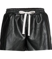 leather free leather shorts with elasticated waist shorts leather shorts svart designers, remix