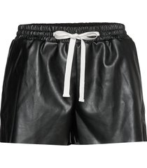 leather free leather shorts with elasticated waist shorts leather shorts svart designers, remix