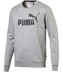 moletom puma ess crew sweat fl big logo masculino