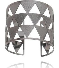 bracelete carolina alcaide banhado a ródio triângulo - feminino