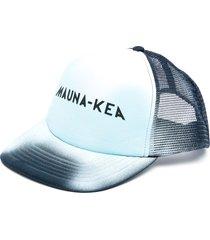 mauna kea mesh-panelled cap - blue