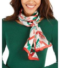 echo ribbon curl silk oblong scarf