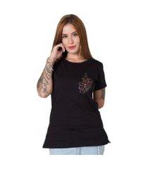 camiseta  knife butterfly preto