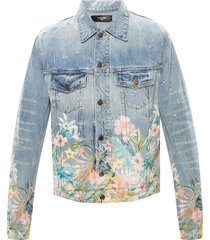 denim jacket with floral print