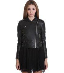 iro ashville leather jacket in black leather
