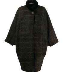 a.n.g.e.l.o. vintage cult 1980's oversized coat - brown