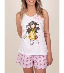 pyjama's / nachthemden admas pyjama shorts tank top spring at last santoro white