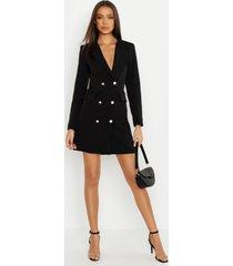 tall blazer jurk, zwart