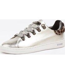 błyszczące sneakersy ze wstawkami z materiału o strukturze końskiego włosia model charlez