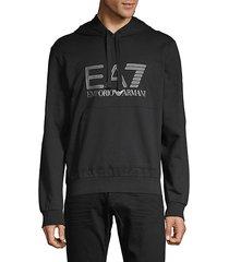 ea7 logo graphic hoodie