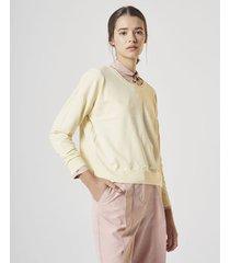 sweater amarillo  system ribb covent