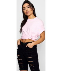 basic oversized boyfriend t-shirt, powder pink
