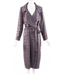 burberry printed silk trench dress