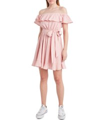 bcbgeneration belted pointelle dress