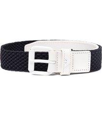 emporio armani kids buckle-fastening two-tone belt - blue