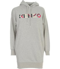 kenzo hoodie dress logo multic
