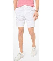 mk shorts in popeline delavé - bianco (bianco) - michael kors