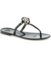 women's tory burch mini miller sandal, size 7 m - black