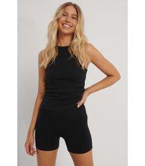 na-kd reborn recycled shorts - black