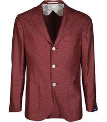 barba napoli red silk-wool blend gimmy blazer