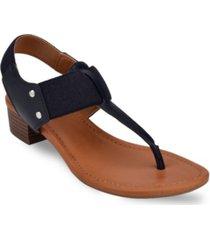 bandolino karly block heel thong sandal women's shoes