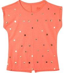 camiseta manga corta coral neon offcorss