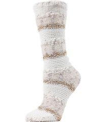 textured multi-yarn crew socks