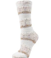 textured multi-yarn crew socks