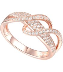 1/2 ct. t.w. round shape diamond ring in 14k rose gold