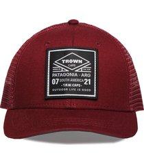 gorra marrón trown headware stamp