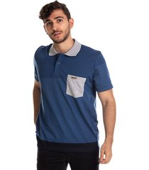 camiseta tipo polo puntazul azul petroleo