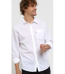 camisa blanca levi's classic one pocket standard