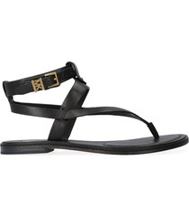 michael michael kors pearson leather thong-sandals