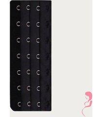 op en top zwanger beha / corset verlenger 7 haaks zwart (per stuk)