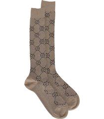 gucci lamé gg socks