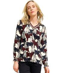 blouse amy vermont wit::blauw::bordeaux